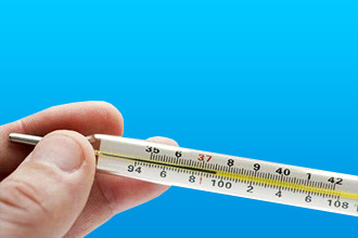Измерение температуры тела при инфаркте